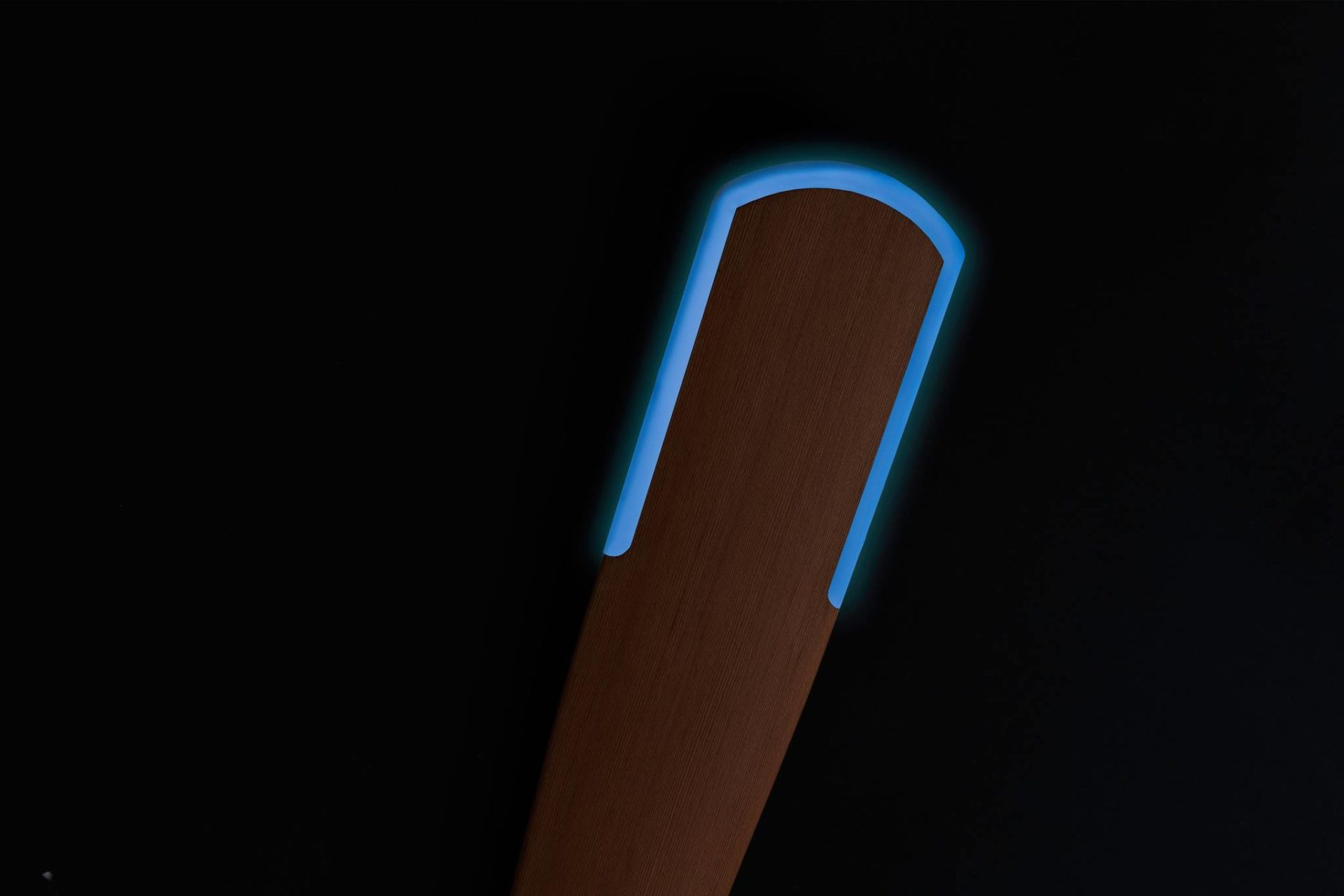 Glowing in the dark greenland kayak paddle